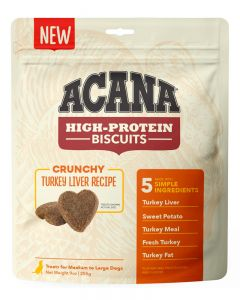 ACANA High-Protein Biscuits Crunchy Turkey Liver Recipe Dog Treats