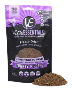 Vital Essentials® Freeze-Dried Turkey Toppers™ Grain Free Limited Ingredient for Dogs or Cats