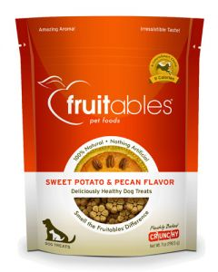 Fruitables Pet Food Sweet Potato & Pecan Mix Dog Treats