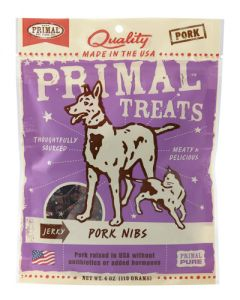Primal Jerky Pork Nibs - Treats