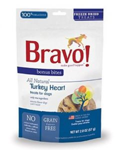 Bravo! Freeze Dried Turkey Hearts Dog Treats