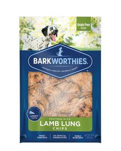Barkworthies Lamb Lung Chips Dog Treats