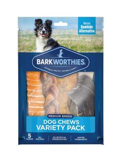 Barkworthies Medium Breed Variety Pack Dog Chews