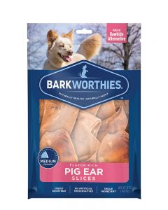 Barkworthies Pig Ear Slices Dog Treats