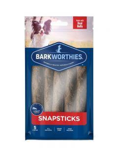 Barkworthies Beef Snap Sticks Dog Treats