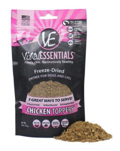 Vital Essentials® Freeze-Dried Chicken Toppers™ Grain Free Limited Ingredient for Dogs or Cats