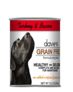 Dave's Pet Food Grain-Free Turkey & Bacon Canned Dog Food