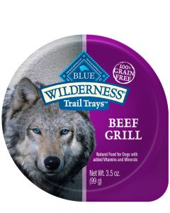 Blue Wilderness Grain Free Beef Grill Trail Tray Wet Dog Food
