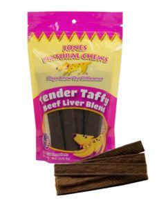 Jones Natural Chews Tender Taffy Beef Liver Blend Dog Treats