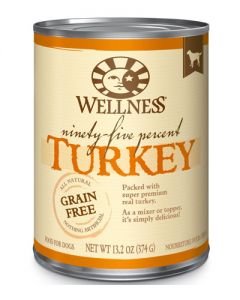 Wellness Pet Food 95% Turkey Canned Dog Food