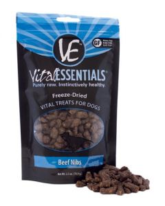 Vital Essentials® Freeze-Dried Beef Nibs Grain Free Limited Ingredient Dog Treats
