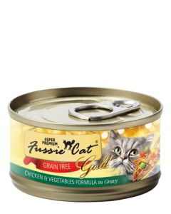 Fussie Cat - Super Premium Chicken & Vegetables in Gravy Canned Cat Food
