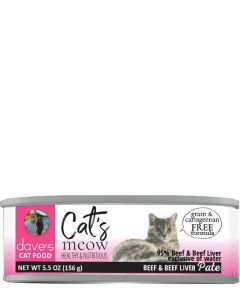 Dave's Pet Food Cat's Meow 95% Beef & Beef Liver Canned Cat Food