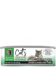 Dave's Pet Food Cat's Meow 95% Chicken & Chicken Liver Canned Cat Food