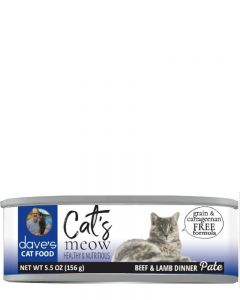 Dave's Pet Food Cat's Meow Beef with Lamb Dinner Canned Cat Food