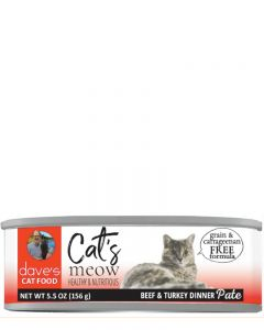 Dave's Pet Food Cat's Meow Beef with Turkey Dinner Canned Cat Food