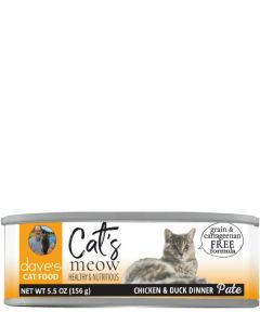 Dave's Pet Food Cat's Meow Chicken with Duck Canned Cat Food
