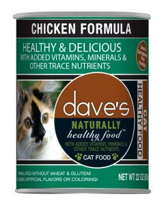 Dave's Pet Food Naturally Healthy Grain-Free Chicken Formula Canned Cat Food