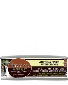 Dave's Pet Food Naturally Healthy Grain-Free Ahi Tuna & Chicken Dinner Canned Cat Food