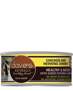 Dave's Pet Food Naturally Healthy Grain-Free Chicken & Herring Dinner Canned Cat Food