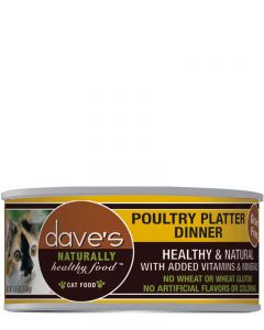 Dave's Pet Food Naturally Healthy Grain-Free Poultry Platter Dinner Canned Cat Food