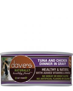 Dave's Pet Food Naturally Healthy Grain-Free Tuna & Chicken in Gravy Canned Cat Food
