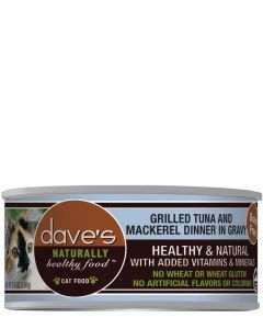 Dave's Pet Food Naturally Healthy Grain-Free Tuna & Mackerel in Gravy Canned Cat Food