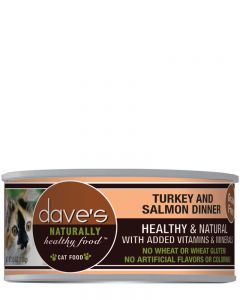 Dave's Pet Food Naturally Healthy Grain-Free Turkey & Salmon Dinner Canned Cat Food
