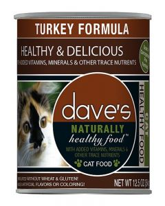 Dave's Pet Food Naturally Healthy Grain Free Turkey Formula Canned Cat Food