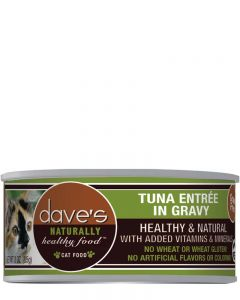 Dave's Pet Food Naturally Healthy Grain-Free Tuna Entrée in Gravy Canned Cat Food