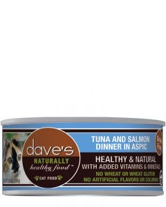 Dave's Pet Food Naturally Healthy Tuna & Salmon in ASPIC Canned Cat Food
