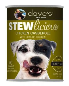 Dave's Pet Food Stewlicious Chicken Casserole Stew Canned Dog Food
