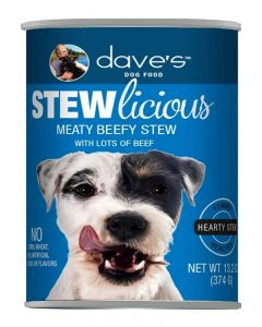 Dave's Pet Food Stewlicious Meaty Beef Stew Canned Dog Food