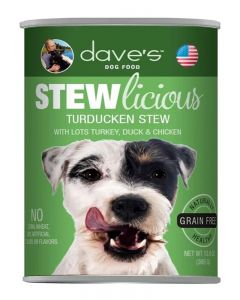 Dave's Pet Food Stewlicious Turducken Stew Canned Dog Food