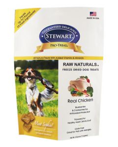 Stewart - Pro Treat Natural Raw Freeze Dried Chicken with Berries & Flaxseed  Dog Treats