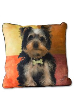 POPPA-ARTZEE - Yorkie Throw Pillow
