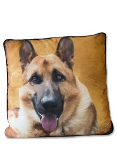 POPPA-ARTZEE - German Shepard Throw Pillow