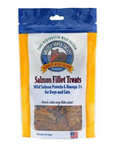 Grizzly Pet Products Salmon Fillet Treats for Dogs & Cats