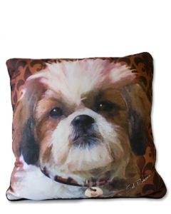 POPPA-ARTZEE - Shi-Tzu Throw Pillow