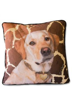 POPPA-ARTZEE - Yellow Labrador Throw Pillow