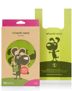 Earth Rated Biodegradable Poop Bags [Lavender Scented] w/ Handles - Dog Accessories