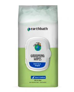 Earthbath Green Tea Leaf Grooming Wipes with Awapuhi