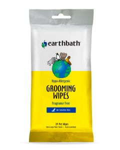 Earthbath Hypo-Allergenic Fragrance-Free Grooming Wipes