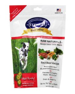 Stewart - Pro Treat Natural Raw Freeze Dried Beef with Berries & Flaxseed Dog Treats