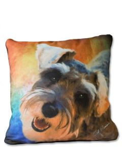 POPPA-ARTZEE - Schnauser Throw Pillow