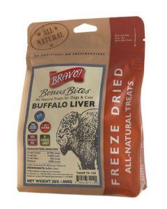 Bravo! Freeze Dried Buffalo Liver Dog Treats