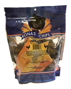 Kona's Chips Liver Licks Dog Treats