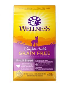 Wellness Complete Health Grain Free Small Breed Turkey, Chicken & Salmon Dog Food