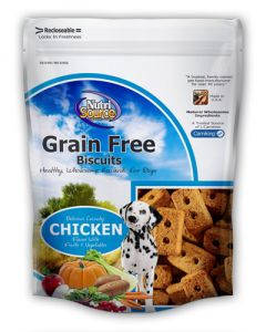 NutriSource Grain Free Chicken Formula Dog Biscuits