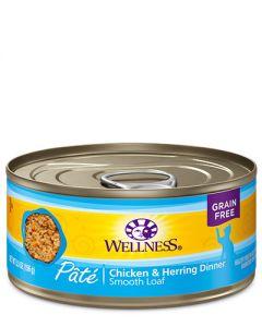 Wellness Complete Health Pâté Chicken & Herring Dinner Canned Cat Food